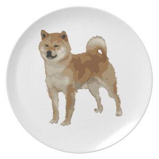 Shiba Inu Dog Plate