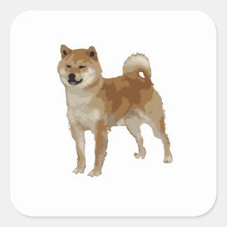 Shiba Inu Dog Square Sticker