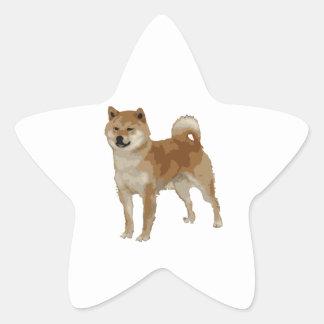 Shiba Inu Dog Star Sticker