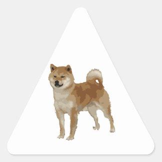 Shiba Inu Dog Triangle Sticker