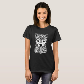 Shiba Inu Face Graphic Art T-Shirt