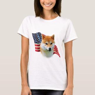 Shiba Inu Flag T-Shirt