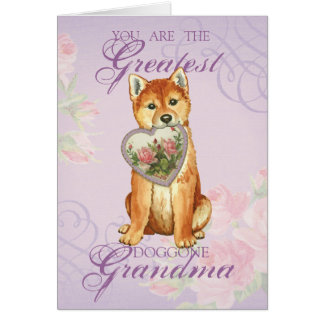 Shiba Inu Heart Grandma Card