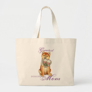 Shiba Inu Heart Mom Large Tote Bag