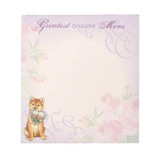 Shiba Inu Heart Mom Notepad