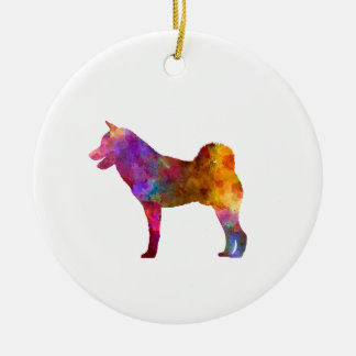 Shiba Inu in watercolor Ceramic Ornament