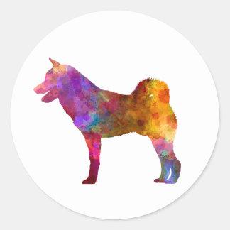 Shiba Inu in watercolor Classic Round Sticker
