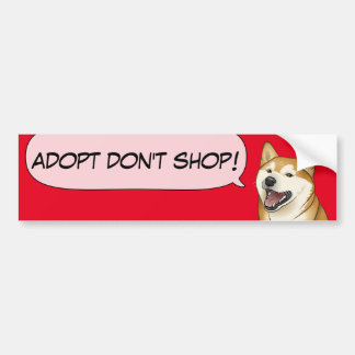 Shiba Inu Love Adopt a Shelter Dog! Sticker