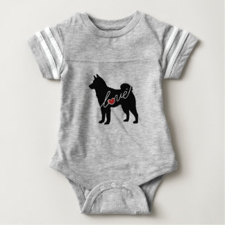 Shiba Inu Love Baby Bodysuit