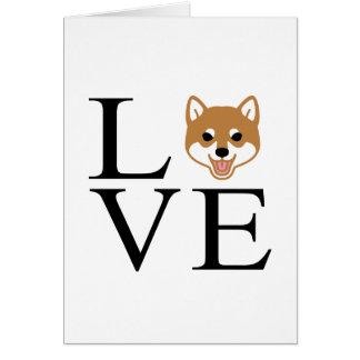 Shiba Inu Love Card