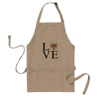 Shiba Inu Love Standard Apron