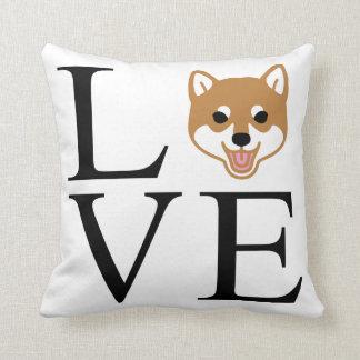 Shiba Inu Love Throw Pillow