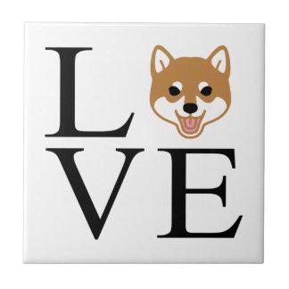 Shiba Inu Love Tile