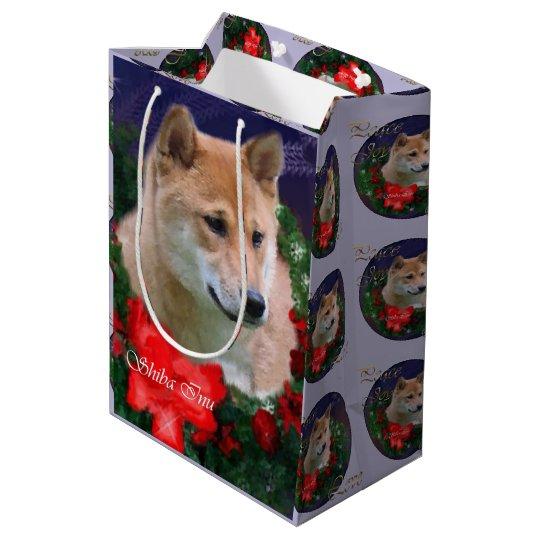Shiba Inu Lovers Christmas Medium Gift Bag