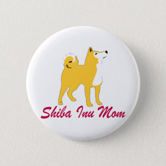 Shiba Inu Mom 2 Inch Round Button