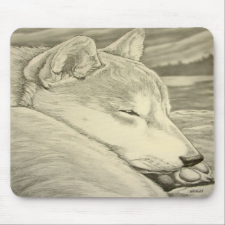 Shiba Inu Mousepad Gifts Ancient Wolf Dogs Gifts