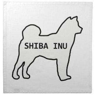 Shiba Inu name silhouette cream Napkin