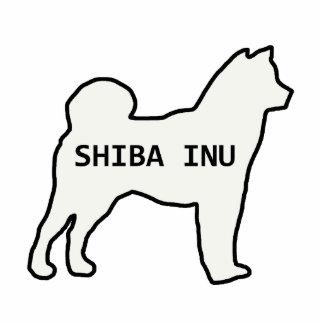 Shiba Inu name silhouette cream Photo Sculpture Keychain
