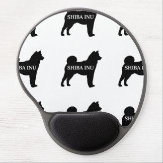Shiba Inu name silo black Gel Mouse Pad