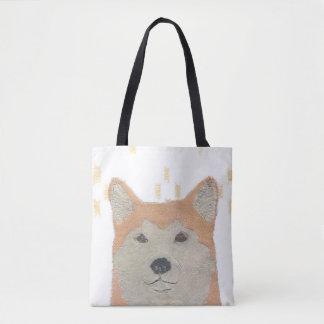 Shiba Inu, Orange Shiba, Modern Japanese Tote Bag
