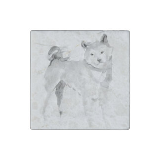Shiba Inu Original Painting 3 Dog Year 2018 Marble Stone Magnets