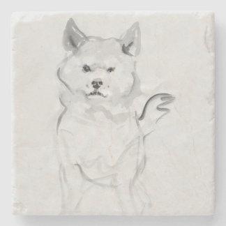 Shiba Inu Original Painting 4 Dog Year 2018 Stone Stone Beverage Coaster