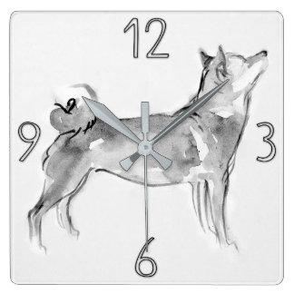 Shiba Inu Original Painting Dog Year 2018 Clock 1