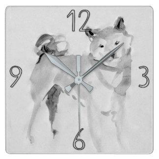 Shiba Inu Original Painting Dog Year 2018 Clock 3
