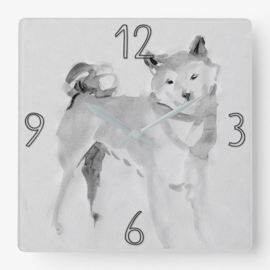 Shiba Inu Original Painting Dog Year 2018 Clock 3