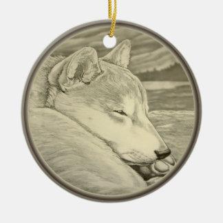 Shiba Inu Ornament Personalized Dog Art Decoration