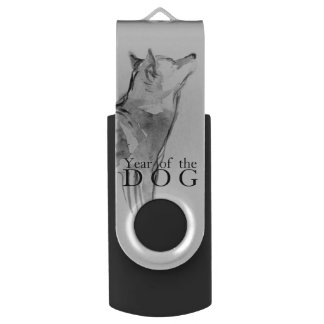 Shiba Inu Painting 1 Chinese Dog Year 2018 USB USB Flash Drive