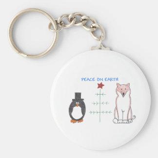 Shiba Inu Peace On Earth Keychain