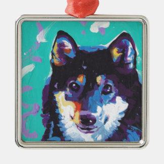 Shiba Inu Pop Art Metal Ornament