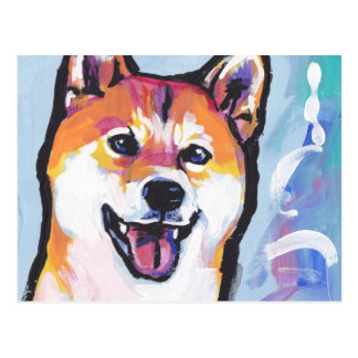 Shiba Inu Pop Art Postcard