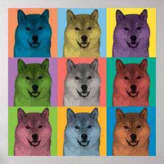 Shiba Inu Pop-Art Poster