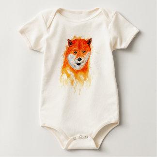 Shiba Inu Portrait Baby Bodysuit