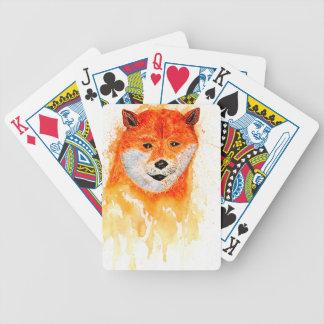 Shiba Inu Portrait Bicycle Playing Cards