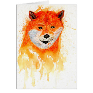 Shiba Inu Portrait Card