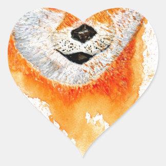 Shiba Inu Portrait Heart Sticker