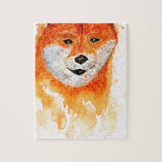 Shiba Inu Portrait Jigsaw Puzzle