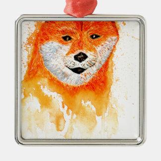 Shiba Inu Portrait Metal Ornament