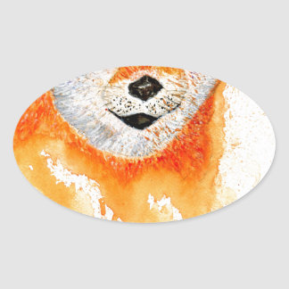 Shiba Inu Portrait Oval Sticker