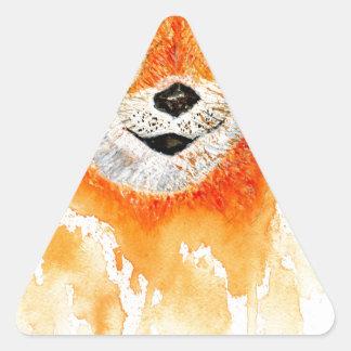 Shiba Inu Portrait Triangle Sticker