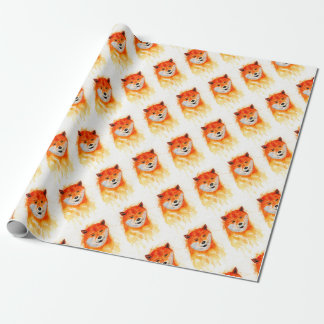 Shiba Inu Portrait Wrapping Paper