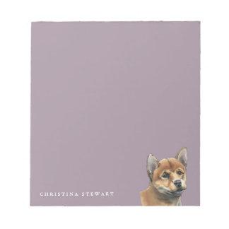 Shiba Inu Puppy Drawing Notepad