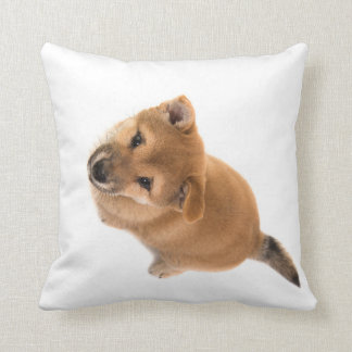 Shiba Inu puppy Throw Pillow