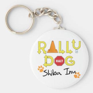Shiba Inu Rally Dog Keychain
