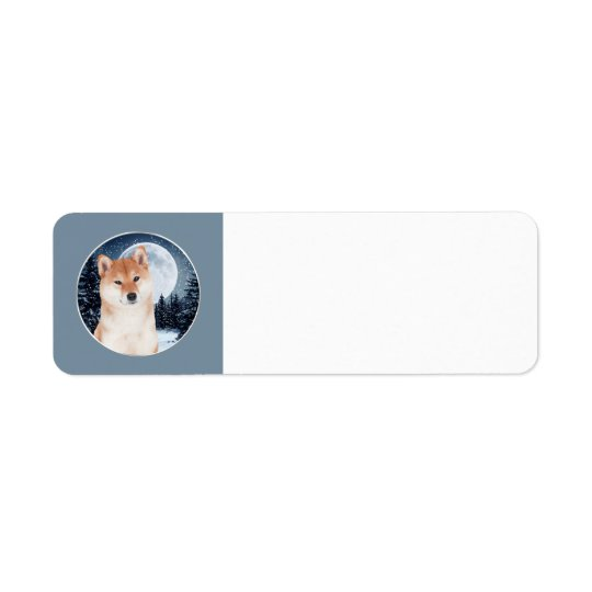 Shiba Inu Return Address Labels