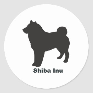 Shiba Inu Round Sticker