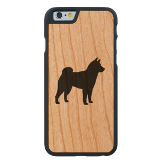 Shiba Inu Silhouette Carved Cherry iPhone 6 Case